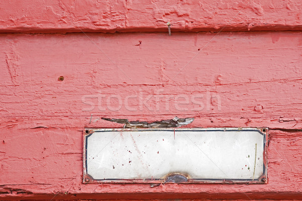 старые адрес пластина стены дома Сток-фото © marekusz