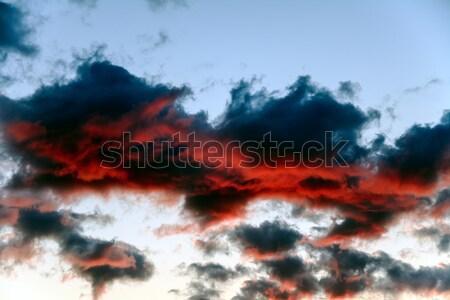 Escuro azul nuvens vermelho forte Foto stock © marekusz