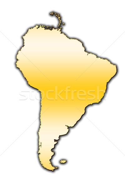 Dél-amerika skicc térkép fedett gradiens világ Stock fotó © marekusz