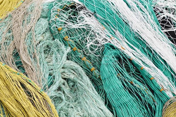 Closeup of varicolored netting Stock photo © marekusz