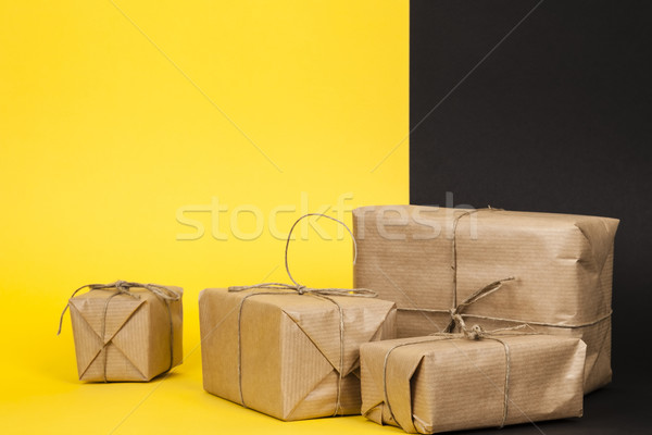 several packages wrapped with paper Stock photo © marekusz