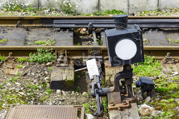 Railroad switch. Stock photo © marekusz