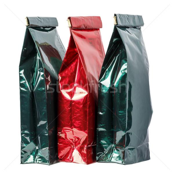 üç kullanılmış paket çay kahve Stok fotoğraf © marekusz