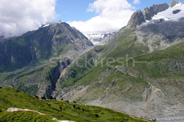 mountains over  aletch glacier in the swiss alps Stock photo © marekusz