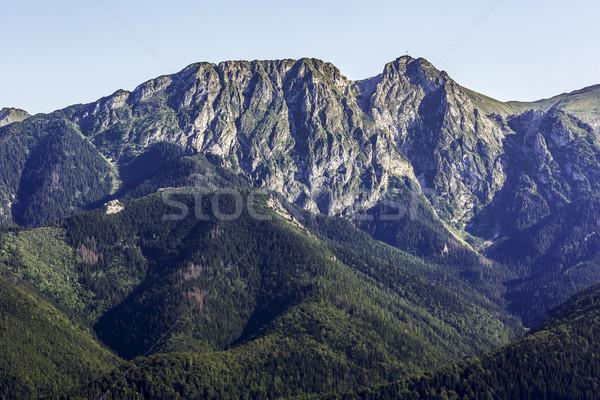 Giewont, famous peak near Zakopane Stock photo © marekusz