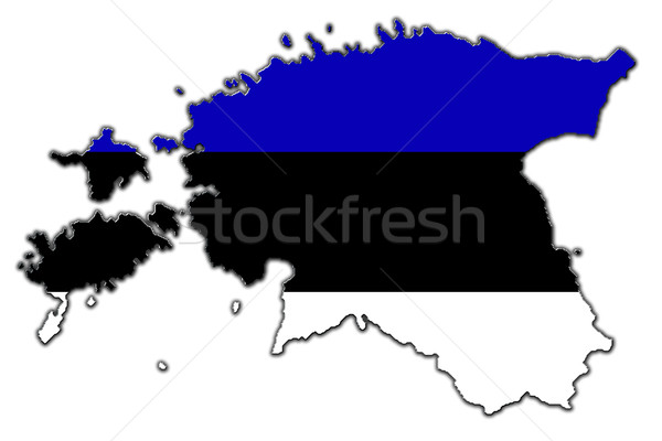 Stylized contour map of Estonia Stock photo © marekusz