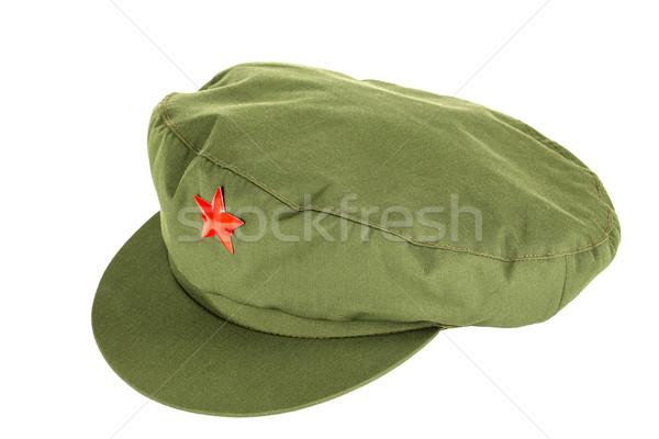 Chinese red star cap Stock photo © marekusz