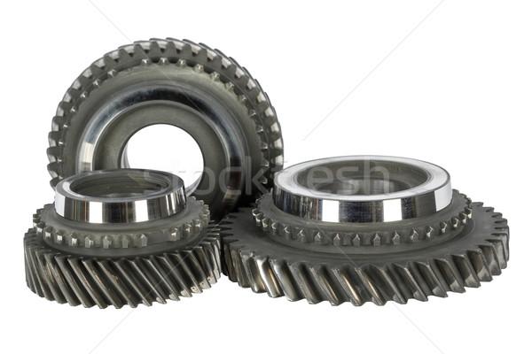 Cog ruedas tecnología metal máquina acero Foto stock © marekusz