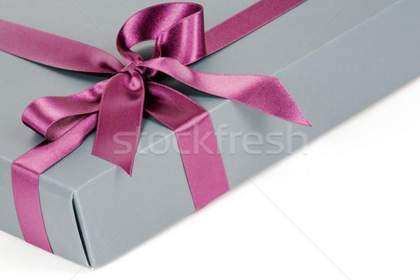 Caixa de presente decorativo fita casamento apresentar pacote Foto stock © marekusz