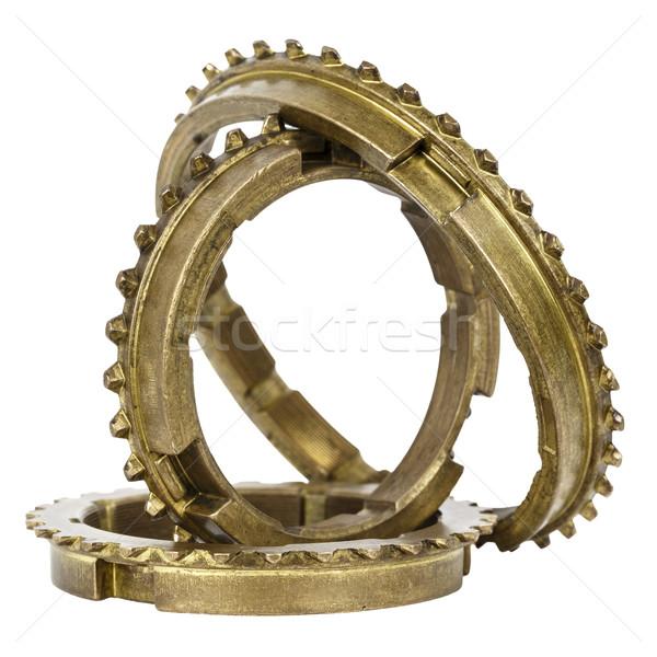 Gyűrűk elnyűtt ki viselet doboz elemek Stock fotó © marekusz