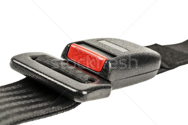 Auto veiligheid gordel gesp witte Stockfoto © marekusz