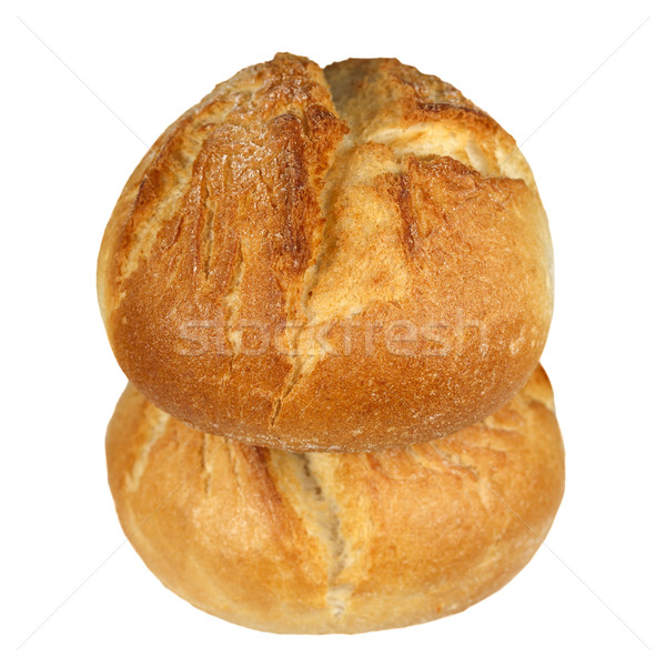 Stock photo: Two crusty bread rolls