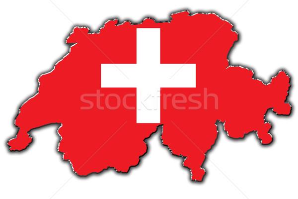 стилизованный карта Швейцария покрытый Сток-фото © marekusz