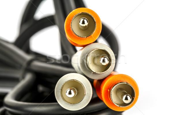 Audio-video RCA connectors Stock photo © marekusz
