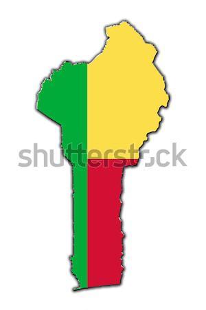 Stilizzato contorno mappa Benin contorno coperto Foto d'archivio © marekusz