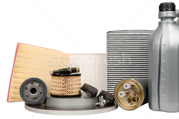 Set of automotive spare parts Stock photo © marekusz
