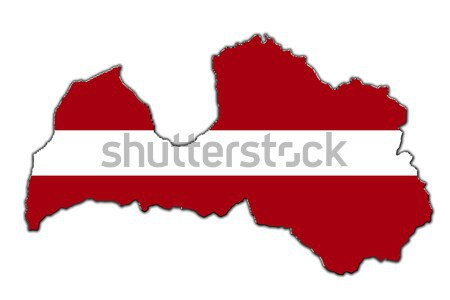 Stylized contour map of Latvia Stock photo © marekusz