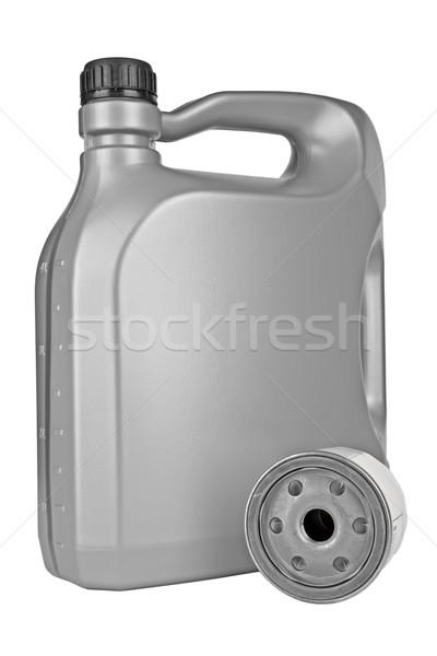 Gép olaj szűrő öt liter motorolaj Stock fotó © marekusz