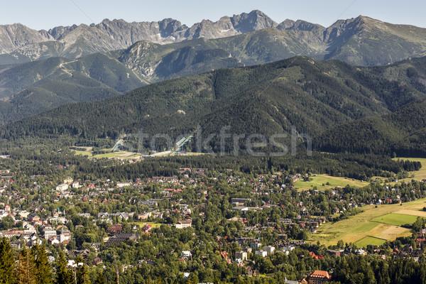 City of Zakopane, Ski jumps and Tatras  Stock photo © marekusz