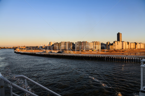 Ostend city in the rays of the sunset  Stock photo © marekusz
