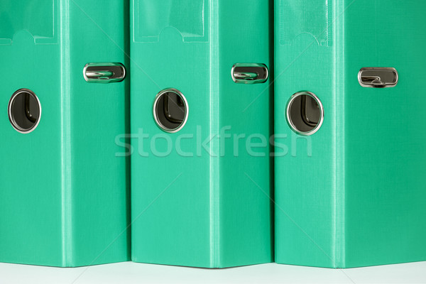 Trois fichier dossiers fond vert Photo stock © marekusz