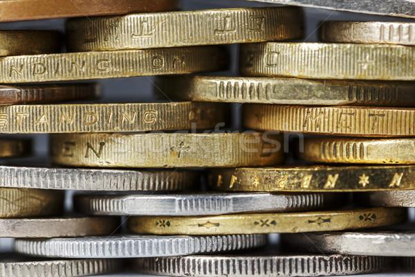 Moedas ouro prata cor numerário objeto Foto stock © marekusz