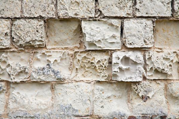 Oude muur zandsteen vernietigd atmosferisch abstract Stockfoto © marekusz