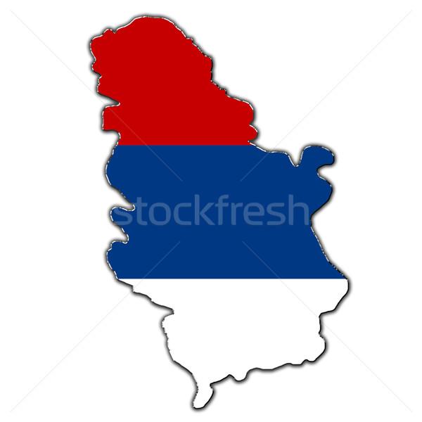 Stilize harita Sırbistan kapalı Stok fotoğraf © marekusz