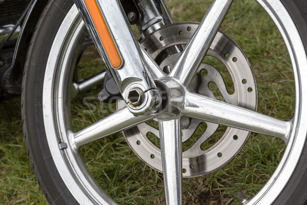 Motorcycle front wheel Stock photo © marekusz