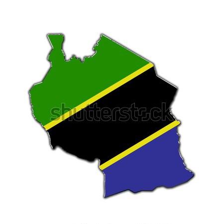 стилизованный карта Танзания покрытый Сток-фото © marekusz