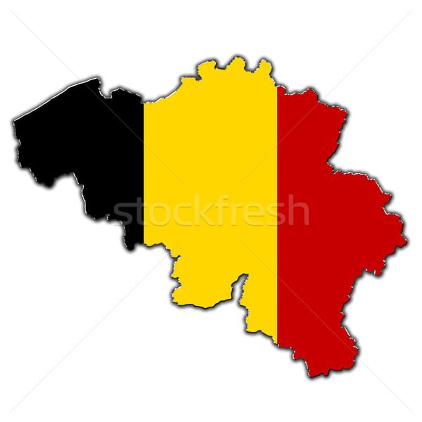 Estilizado mapa Bélgica cubierto Foto stock © marekusz