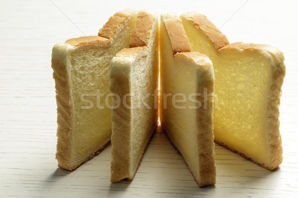 Sliced toast bread on a white surface   Stock photo © marekusz
