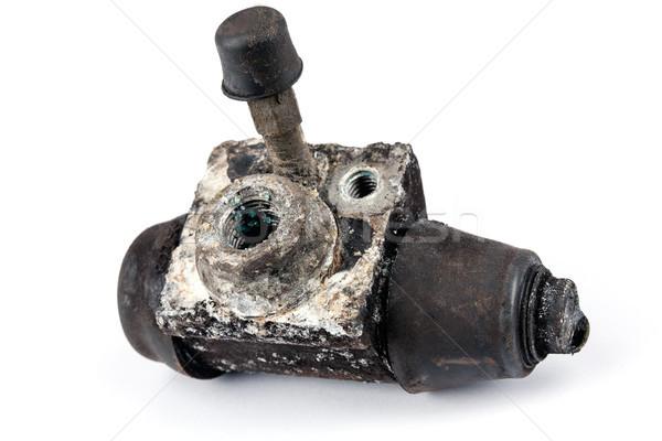 Na zewnątrz hamulec cylinder podwoić tłok Zdjęcia stock © marekusz