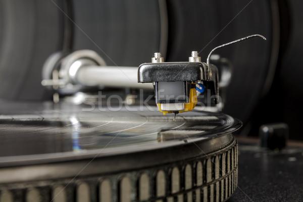 vinyl record player Stock photo © marekusz