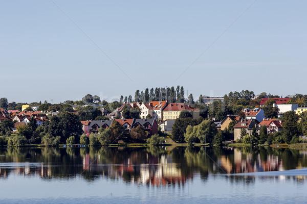 şehir göller bölgesi Polonya genel görmek diğer Stok fotoğraf © marekusz