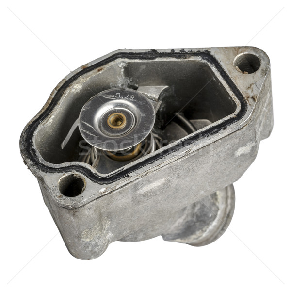 Worn thermostat mounted in the housing Stock photo © marekusz