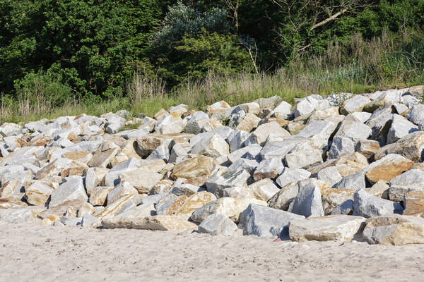 Boulders on the beach Stock photo © marekusz