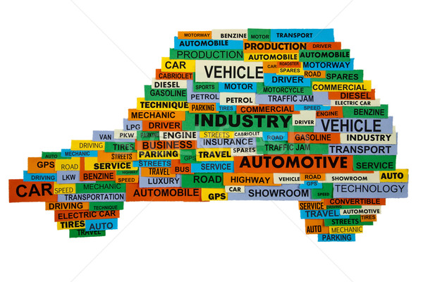 words describing the automotive industry Stock photo © marekusz