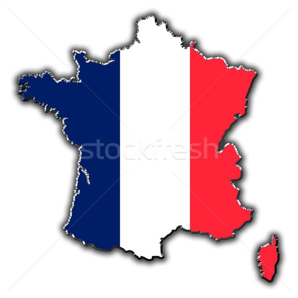Stilize harita Fransa kapalı Stok fotoğraf © marekusz