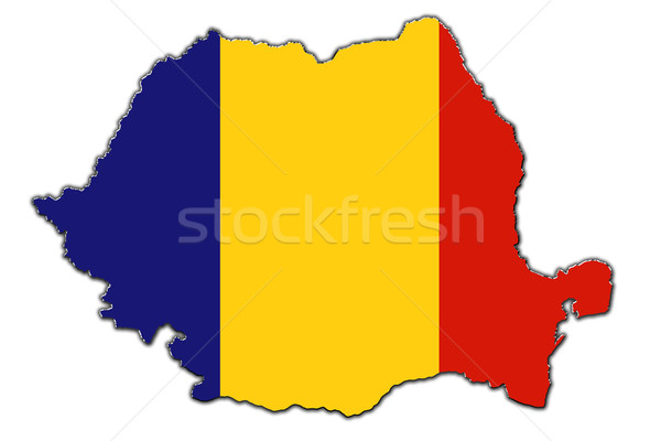 Stilize harita Romanya kapalı Stok fotoğraf © marekusz