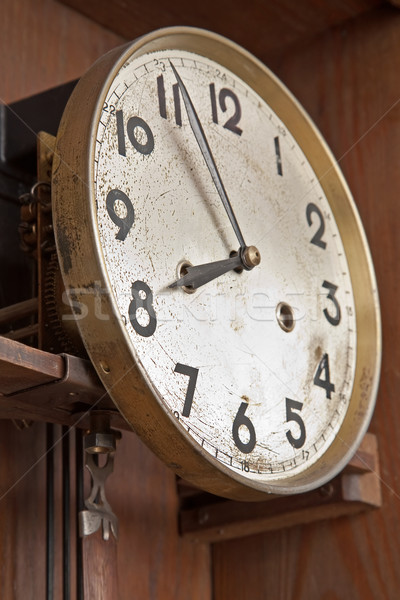 face of an antique clock indicating nearly eight Stock photo © marekusz