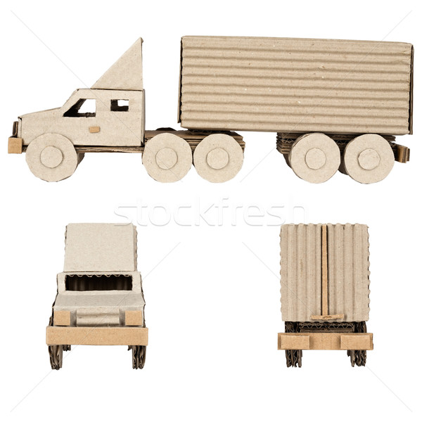 truck made of corrugated cardboard Stock photo © marekusz
