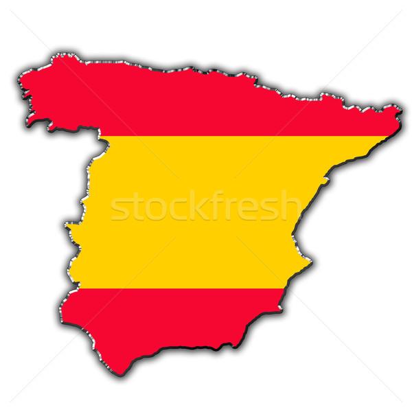 Elevation Map Of Spain.Stylized Contour Map Of Spain Stock Photo C Marek Uszynski Marekusz