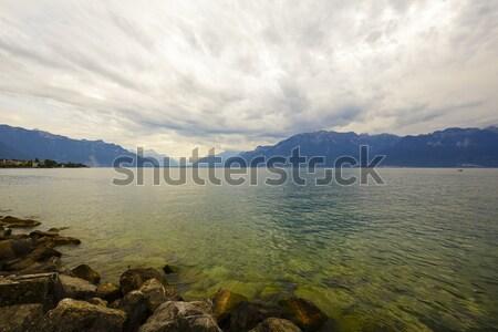 Clouds over lake Leman Stock photo © marekusz