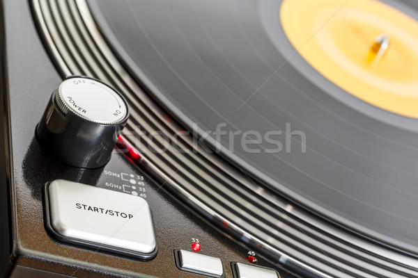Draaitafel kant controle muziek Stockfoto © marekusz