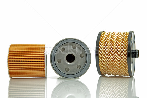 fuel filter and two oil  filters Stock photo © marekusz