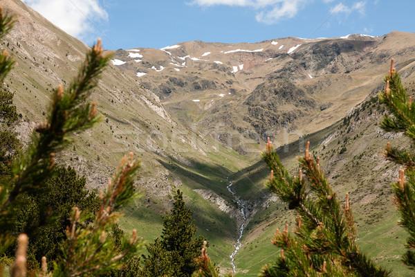 Tájkép hegy Andorra díszlet gyönyörű völgyek Stock fotó © marekusz