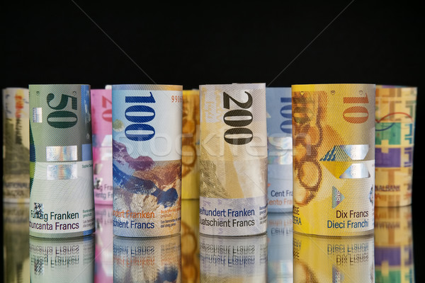 swiss franc rolls Stock photo © marekusz