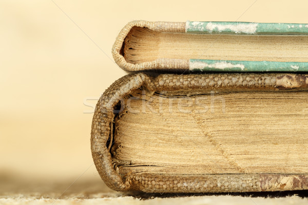 Dois livros fechado um mentiras topo Foto stock © marekusz
