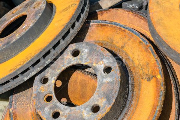 Rusty freno fuera coche metal Foto stock © marekusz